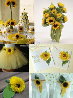 Sunflower Wedding Invitation (Invitatie de nunta cu floarea soarelui) - Handmade by Meda