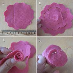 Passo a passo: Aprenda fazer três modelos de flores em feltro
