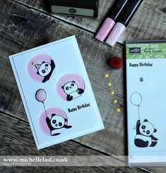 Party Pandas FREE from Stampin' Up! Made by Michelle Last, top UK Demo (card cased from Anni Karten) #panda #stampinup #saleabration #cardmagic