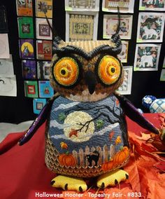 Needlepoint Study Hall: Halloween Hooter Owl by Tapestry Fair