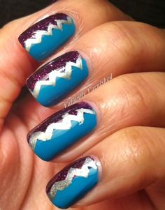 Valiantly Varnished: Artsy Wednesday - Earthquake Mani