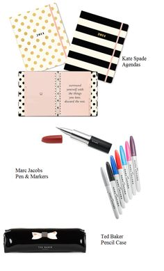 Cute  Chic school supplies | When In Vogue http://www.wheninnvogue.blogspot.com