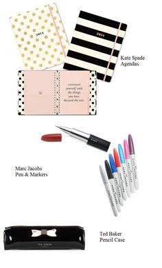 """Cute & Chic school supplies | When In Vogue http://www.wheninnvogue.blogspot.com"""