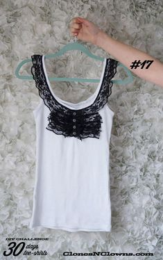 DIY Clothes Refashion: DIY with ruffles of lace