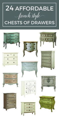 The French Dresser: 24 Affordable French Style Chests of Drawers - Where to find French dressers with great style at a reasonable price Country Stil, Modern French Country, French Farmhouse Decor, French Country Furniture, French Country Kitchens, French Country Bedrooms, French Home Decor, French Country Cottage, French Country Decorating