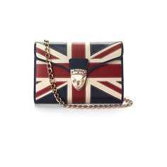 Aspinal of London Brit Manhattan Clutch with Chain ($615) ❤ liked on Polyvore
