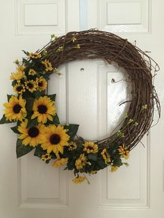 Grapevine Sunflower Wreath Easy and fun to craft.