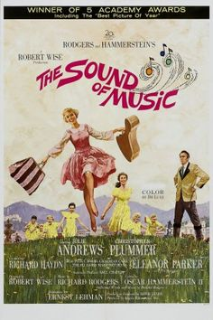 The Sound of Music movie poster designed by Howard Terpning (1965)  I loved this movie so much that I would cut out pictures from magazines and pin them on my bulletin board.