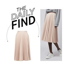 """""""The Daily Find: Pleated Mini Skirt"""" by polyvore-editorial ❤ liked on Polyvore featuring moda, Topshop, women's clothing, women, female, woman, misses, juniors y DailyFind"""