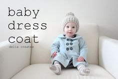 winter whites baby dress coat