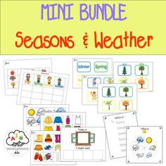 Kindergarten Curriculum, Classroom Activities, Weather Lessons, Tracing Sheets, Weather Activities, Activity Sheets, Educational Games, Special Education, Kids Learning