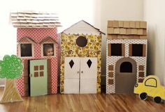Stuck inside? Here's an inspiring list of 15 toys you can make from cardboard.