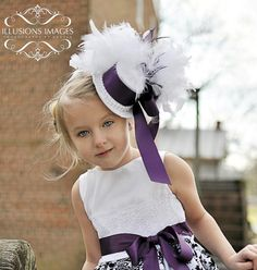 Touch of Lace Purple Top Hat