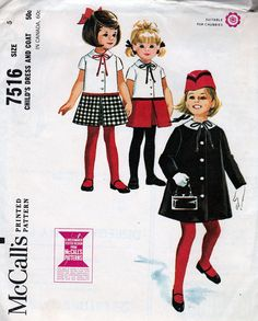 McCall's 7516; ©1964; Child's Dress and Coat; Size 5, MINT - New Vintage Studio