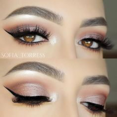 """@makeupgeekcosmetics shadow """"frappe"""" , """"americano"""", & """"cocoa bear"""" in the crease , """"prom night"""" on the lid;"""