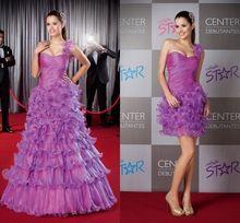 vestido lilás de debutante modelo 2 em 1