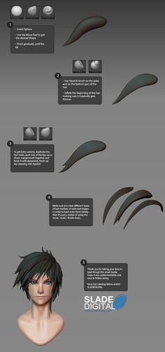 Male Head Hair Tutorial by SladeDigital