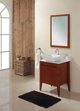 "$675.00 24"" Solid Wood Modern/ Contemporary Design Bathroom Vanity Cabinet With Mirror"