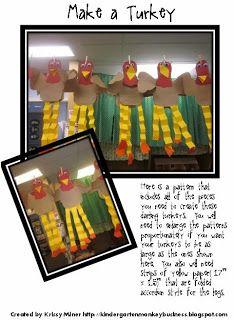 goofy turkey pattern freebie from Mrs. Miner's Monkey Business