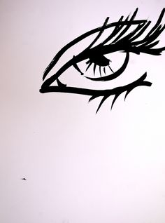 """Saatchi Online Artist: Oriela E Medellin; Pen and Ink, 2006, Drawing """"EVIL EYE"""""""