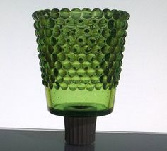 Peg Votive Holder Small Hobnail Green Quality Sun Brand: Quality Sun Height: 3 3/8 inches (including stem) Width: 2.5 inches Color: Green Material: Glass Sample Photo No: 16