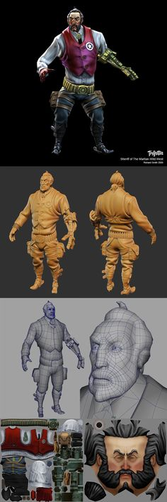sheriff_comp.jpg (800×2409) A character from the cancelled TimeSplitters game. A shame that game got canned - It was a masterpiece of online team based shooting:)