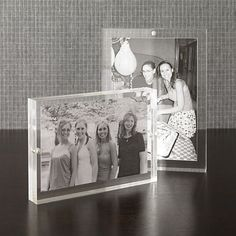 2-Piece Acrylic Block Picture Frame Set in Picture Frames | Crate and Barrel 1-4x6 and 1-5x7  $29.95 or 5x7 $18.95