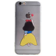 Voor+iPhone+6+hoesje+/+iPhone+6+Plus+hoesje+/+iPhone+5+hoesje+Transparant+/+Patroon+hoesje+Achterkantje+hoesje+Cartoon+Zacht+TPU+Apple+–+EUR+€+3.91