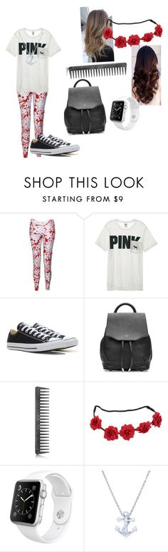 """Splatter"" by mustash1 ❤ liked on Polyvore featuring Victoria's Secret, Converse, rag & bone, GHD, Apple and BERRICLE"
