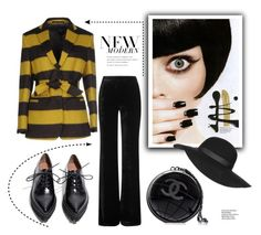"""""""Black Globe"""" by ildiko-olsa ❤ liked on Polyvore featuring Mauro Grifoni, Emilio Pucci, Jeffrey Campbell, Chanel, Topshop, women's clothing, women's fashion, women, female and woman"""