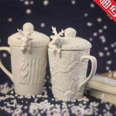 Cute knitted mugs with deer-spoons for gifts to relatives ❤ | Милые вязаные кружки с ложками-оленями в подарок близким ❤