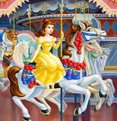 Belle and the Beast in the carousel series.