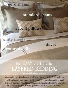 5 Ingredients for a Beautifully Made Bed::guide to layered bedding