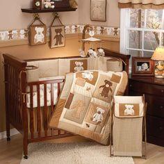 Eddie Bauer Teddy Bear 4 Piece Crib Bedding Set