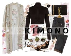 """KIMONO"" by alinnas ❤ liked on Polyvore featuring BCBGMAXAZRIA, Gianvito Rossi, Yves Saint Laurent, Shop Succulents, Leica and kimonos"