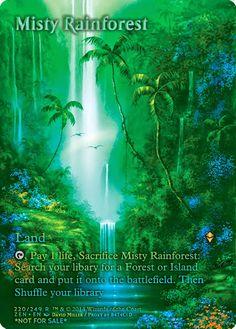 Magic The Gathering Misty Rainforest Proxy Design by http://photo-sharpen.com