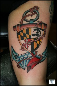 Maryland flag, Natty Boh, anchor tattoo... stumbled on this looking for ideas! MD pride ;)