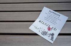 MILUJI TĚ! ...dárková karta s vizitkou