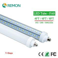 246.75$  Buy here - http://alipne.shopchina.info/go.php?t=32659277086 - LED tubes Light FA8 T8 4ft 6ft 8ft Led Bulbs Tubes Lights 192led 288led 384leds High Super Bright Led Fluorescent Tube V - Shape 246.75$ #buyininternet