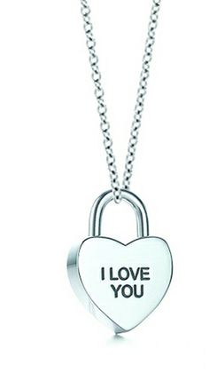 Tiffany Necklaces Jewelry Silver I Love You Heart Lock Necklace This Tiffany Jewelry Product Features: Category:Tiffany & Co Necklaces Material: Sterling Silver Manufacturer: Tiffany And Co
