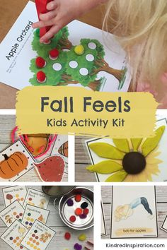 Printable Activities For Kids, Social Activities, Stem Activities, Learning Activities, Bobbing For Apples, Lacing Cards, Busy Bags, Kits For Kids, Autumn Theme