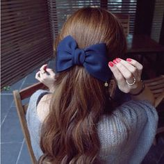 Women Hair Accessories Satin Ribbon Bow Hairdressing Hair Clips Professional Barrette Ponytail Holder Hair Clip Plastic