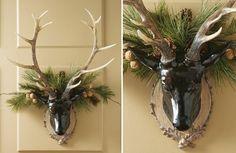 Wall Mount Deer Head, Brown Deer Head, Decorative Deer Head