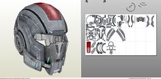 Papercraft .pdo file template for Mass Effect -N7 Full Armor Male +FOAM+.