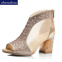 Women's shoes 2017 summer new brand OL fish mouth sandals hollow mesh yarn sexy wedding shoes comfortable professional shoes