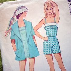 1960 Vintage Sewing Pattern - Boy Shorts Camisole Top Bathing Suit Beach Jacket   -- McCall's 5375. $22.00, via Etsy.