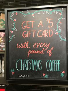 Christmas promotion #chalkboard #starbucks