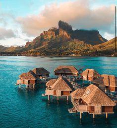 Bungalow On The Beach, Cavo Tagoo Mykonos, Four Seasons Bora Bora, Life Under The Sea, Villa, Spa, Overwater Bungalows, Mykonos Greece, Tahiti