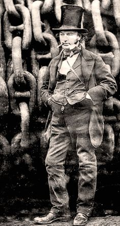 Isambard Kingdom Brunel - he was one of the most versatile and audacious engineers of the 19th century, responsible for the design of tunnels, bridges, railway lines and ships.