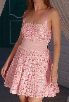 Růžové Šaty+Návod
